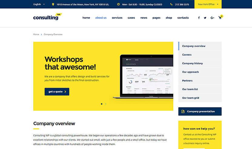Consulting 商务企业 WordPress主题 v3.9.2